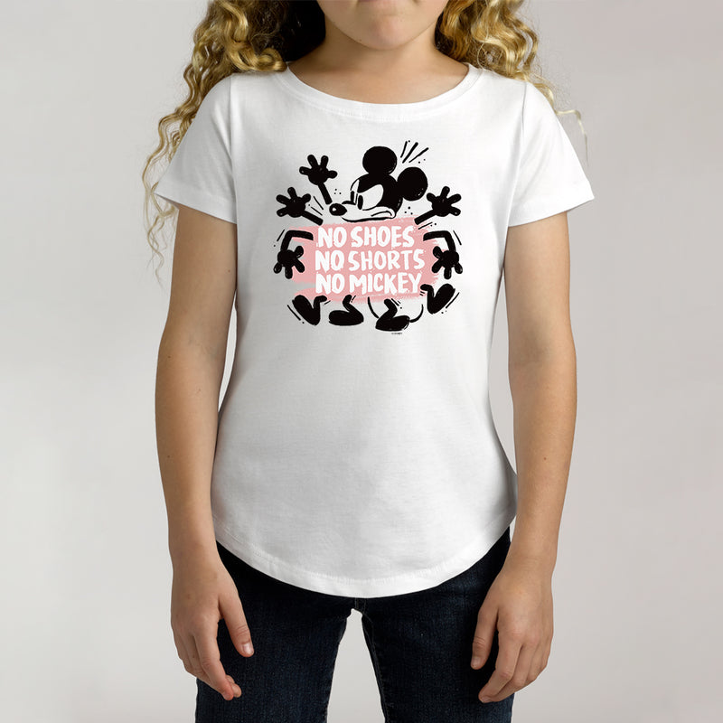 Twidla Girl's Disney Mickey Mouse No Shoes No Shorts Cotton Tee
