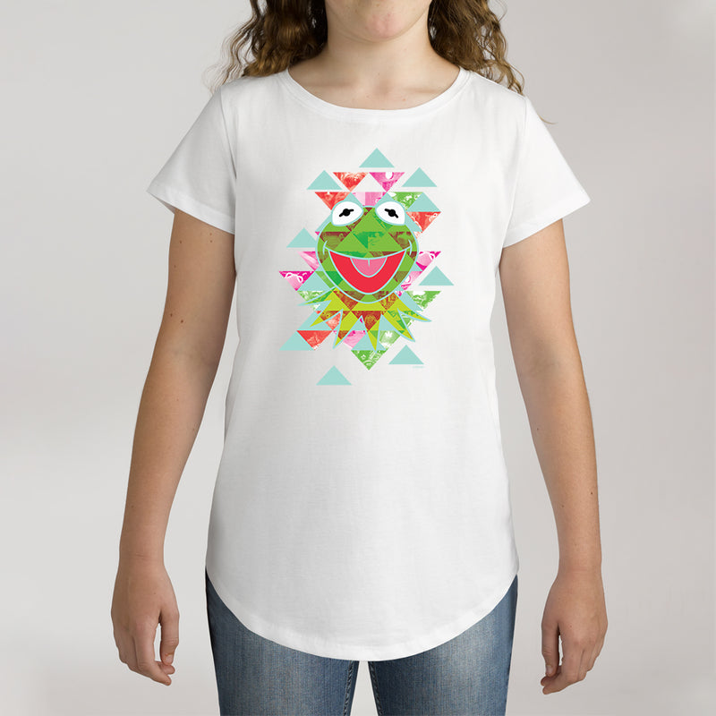Twidla Girl's The Muppets Kermit Aztec Cotton Tee