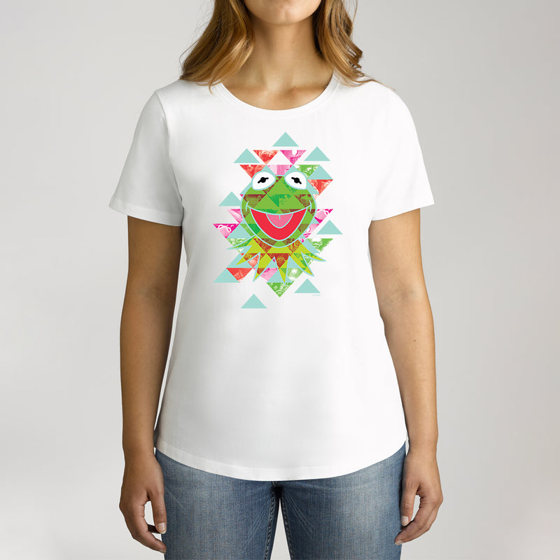 Twidla Women's The Muppets Kermit Aztec Cotton Tee