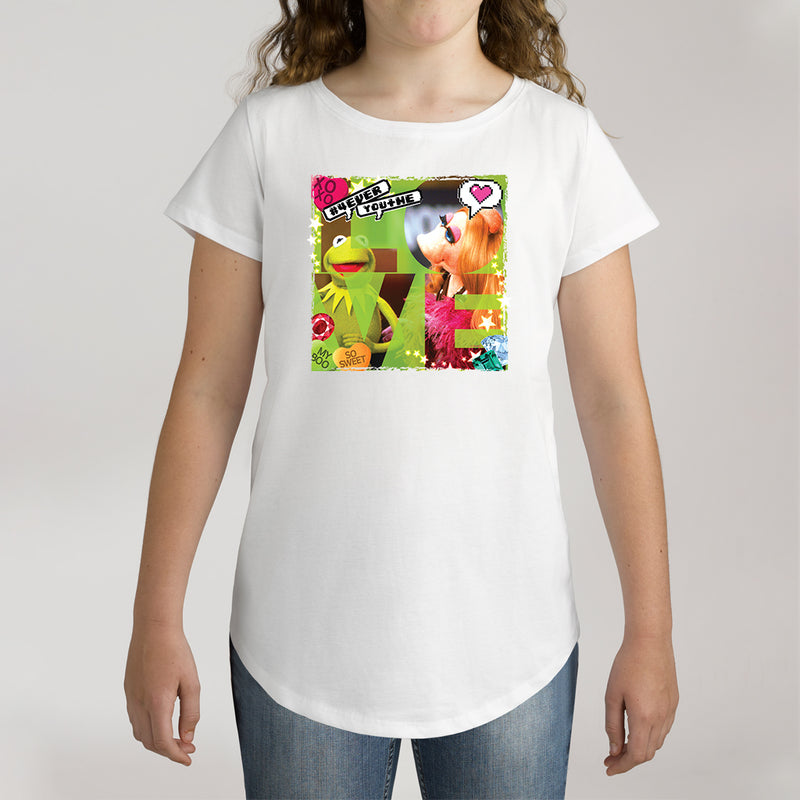 Twidla Girl's The Muppets Kermit & Miss Piggy Love Cotton Tee