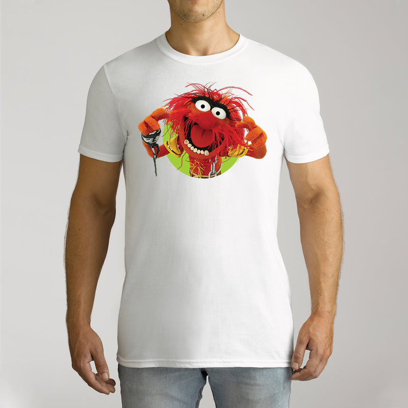 Twidla Men's The Muppets Animal Cotton Tee