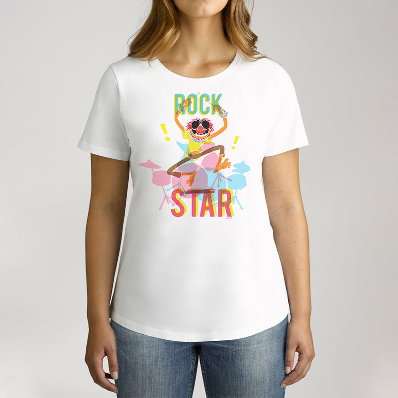 Twidla Women's The Muppets Animal Rock Star Cotton Tee