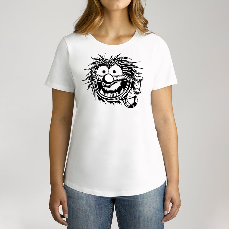 Twidla Women's The Muppets Animal Sketch Cotton Tee