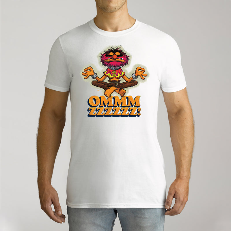 Twidla Men's The Muppets Animal OMMM zzzz! Cotton Tee