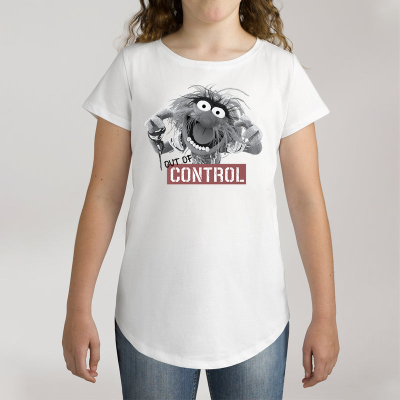 Twidla Girl's The Muppets Animal Out Of Control Cotton Tee
