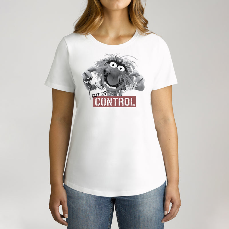 Twidla Women's The Muppets Animal Out Of Control Cotton Tee