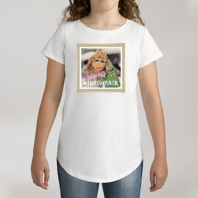 Twidla Girl's The Muppets Miss Piggy & Kermit Throwback Cotton Tee