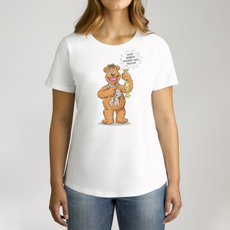 Twidla Women's The Muppets Fozzie Bear Cotton Tee