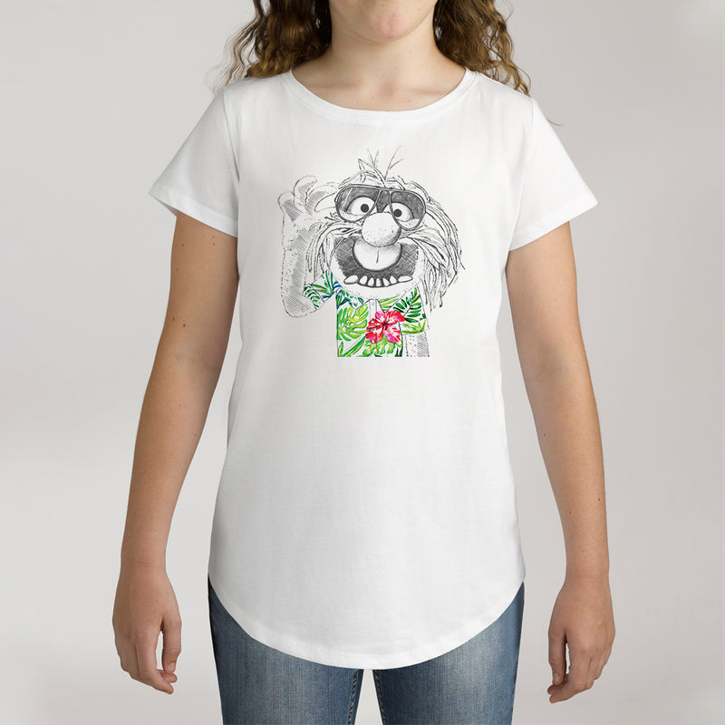 Twidla Girl's The Muppets Hawaiian Animal Cotton Tee