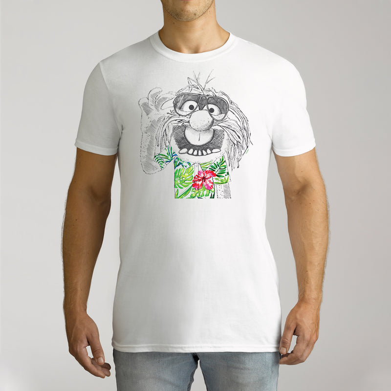 Twidla Men's The Muppets Hawaiian Animal Cotton Tee