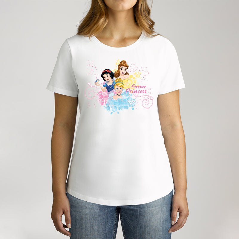 Twidla Women's Disney Princess Forever Princess Cotton Tee