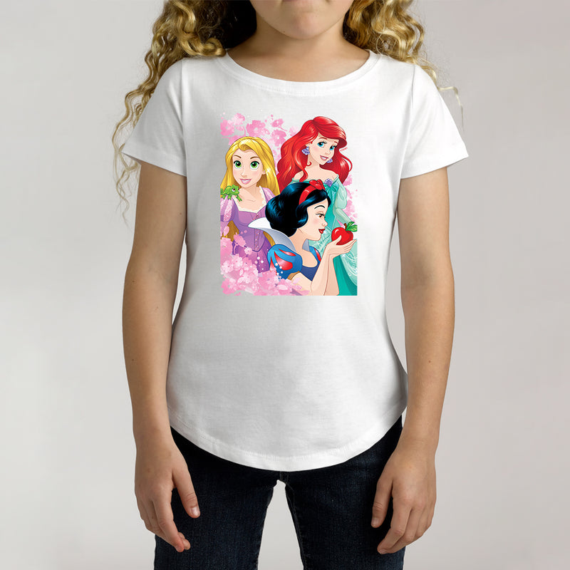Twidla Girl's Disney Princess Floral Cotton Tee