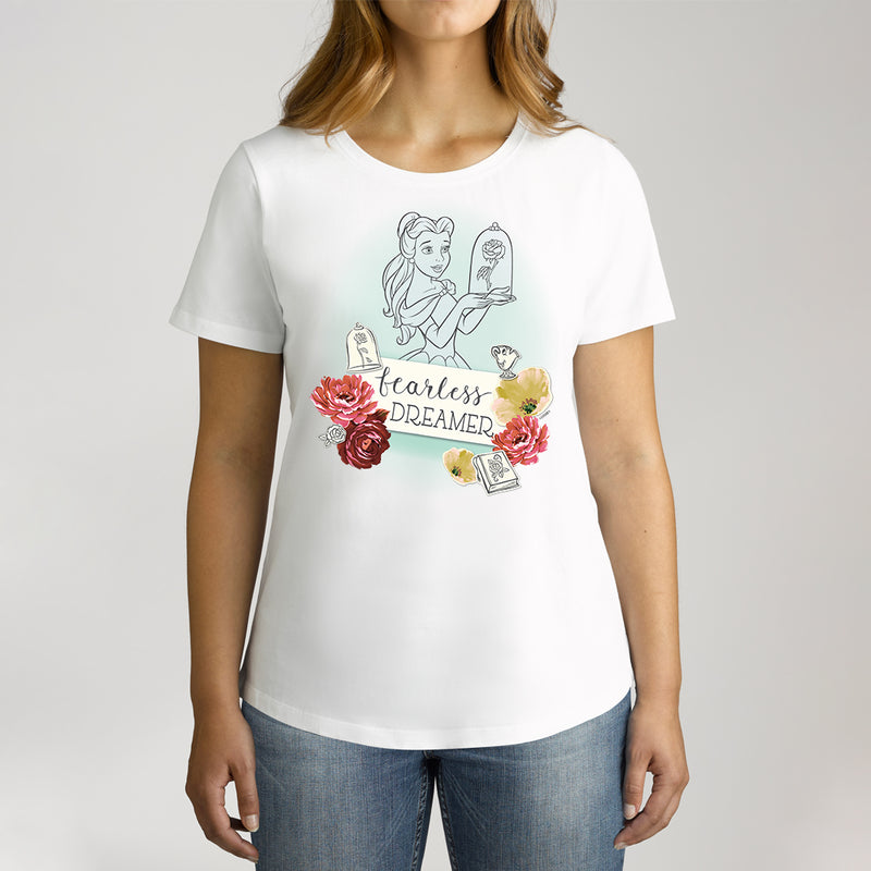 Twidla Women's Disney Princess Fearless Dreamer Cotton Tee