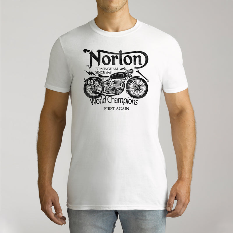 Twidla Men's Norton World Champions Cotton Tee