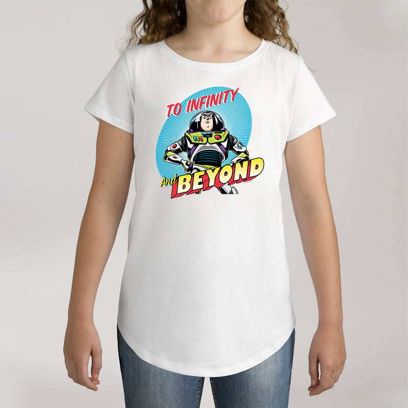 Twidla Girl's Disney Toy Story To Infinity And Beyond Cotton Tee