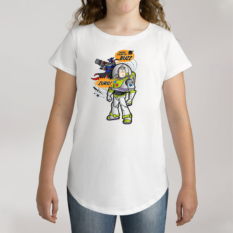 Twidla Girl's Disney Toy Story Sworn Enemy Of Buzz - Zurg! Cotton Tee