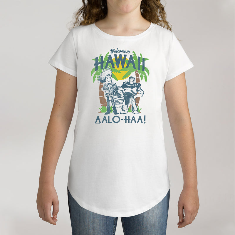 Twidla Girl's Disney Toy Story Hawaii AALO_HAA! Cotton Tee