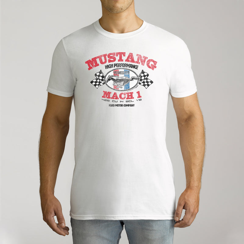 Twidla Men's Ford Mustang Mach 1 Cotton Tee