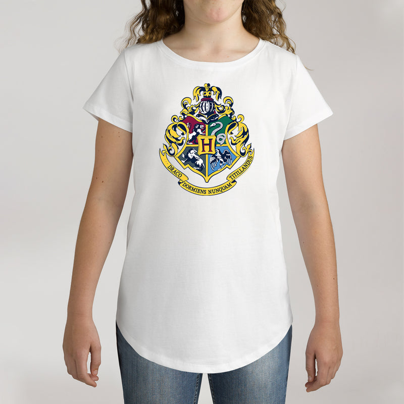 Twidla Girl's Harry Potter Emblem Cotton T-Shirt