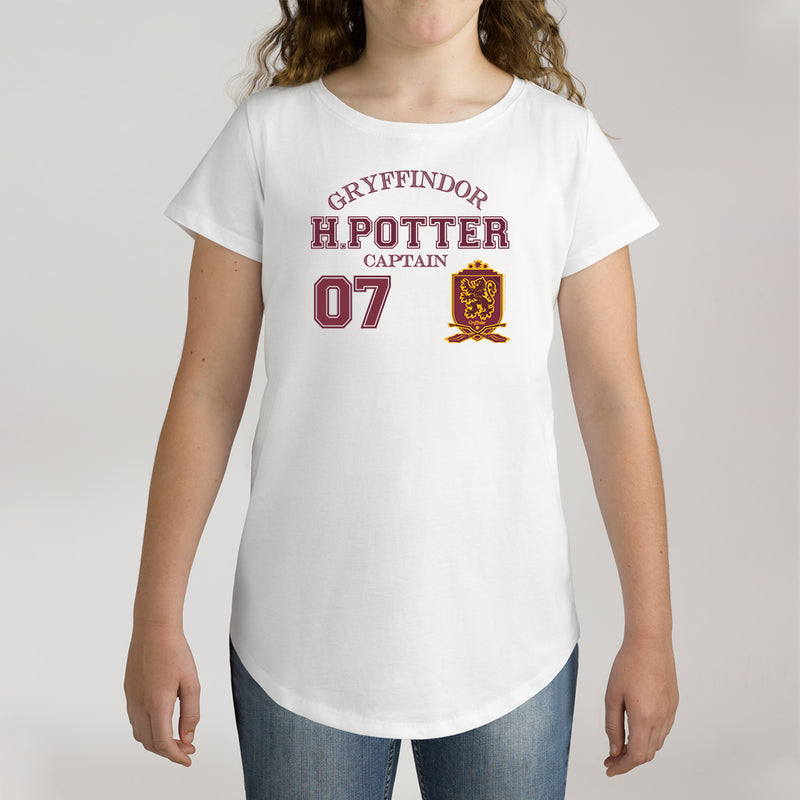 Twidla Girl's Harry Potter Captain 07 Cotton T-Shirt