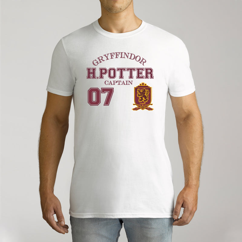 Twidla Men's Harry Potter Captain 07 Cotton T-Shirt
