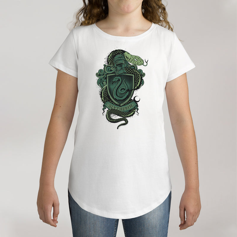 Twidla Girl's Harry Potter Slytherin Cotton T-Shirt