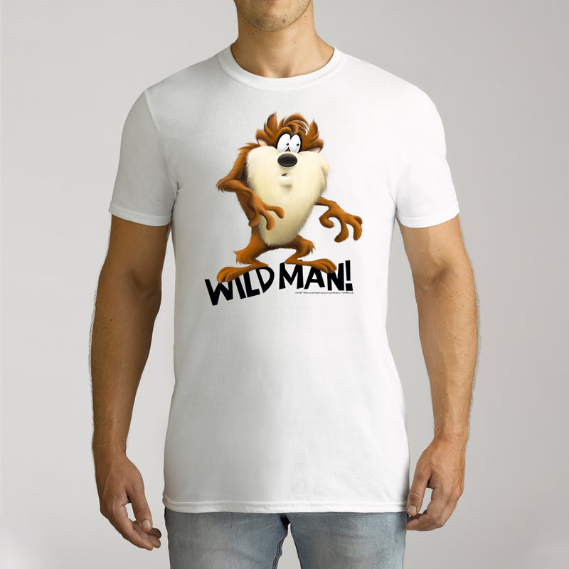 Twidla Men's Looney Tunes Tassie Devil Wild Man Cotton Tee