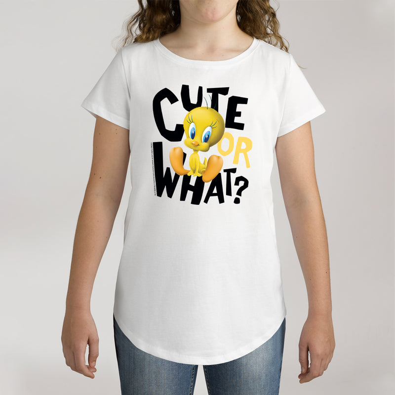 Twidla Girl's Looney Tunes Tweety Cute or What? Cotton Tee