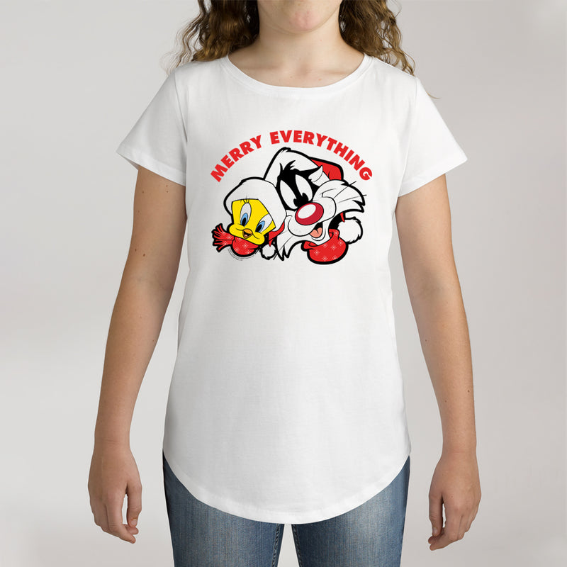 Twidla Girl's Looney Tunes Merry Everything Cotton T-Shirt