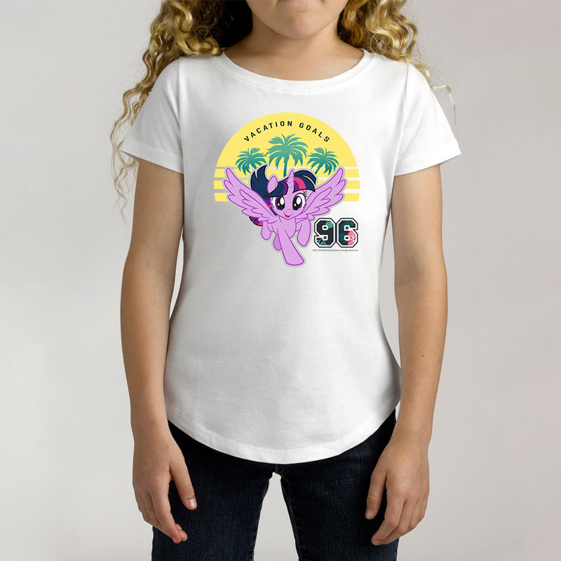 Twidla Girl's My Little Pony Vacation Goals Cotton Tee