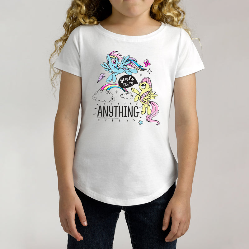 Twidla Girl's My Little Pony Girls Can Do Anything Cotton T-Shirt