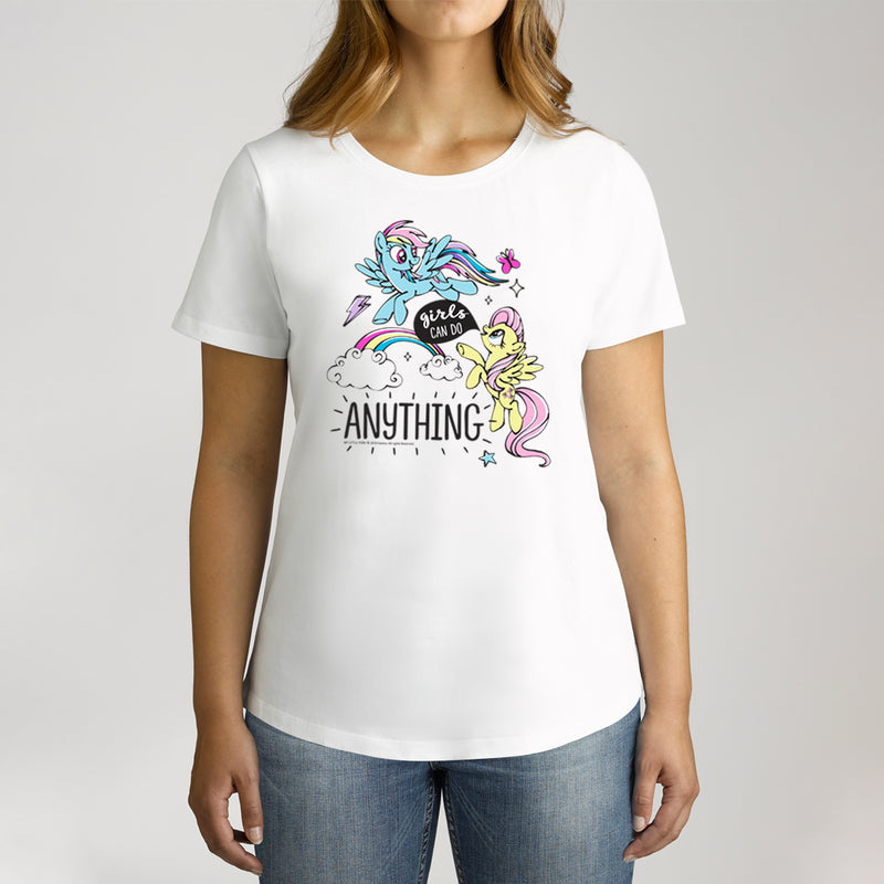Twidla Women's My Little Pony Girl's Can Do Anything Cotton T-Shirt