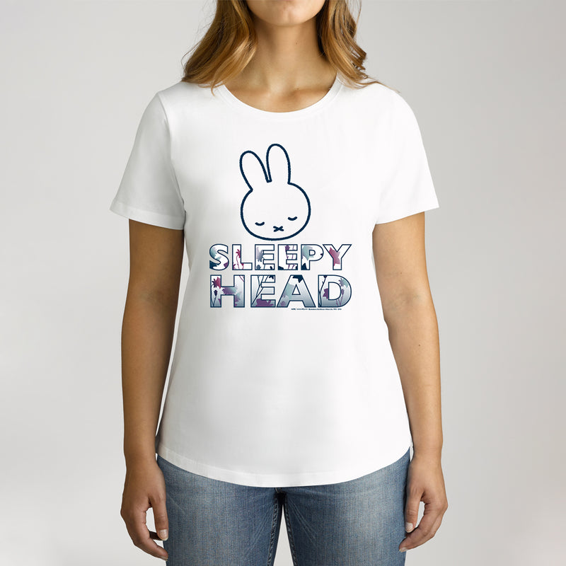 Twidla Women's Miffy Sleepy Head Cotton T-Shirt