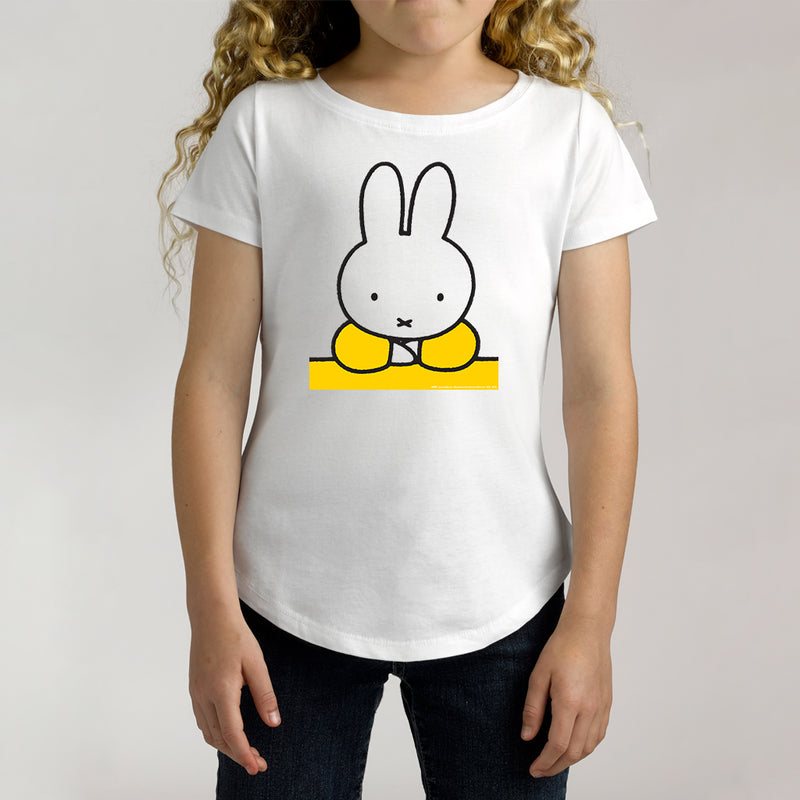 Twidla Girl's Miffy Yellow Cotton Tee