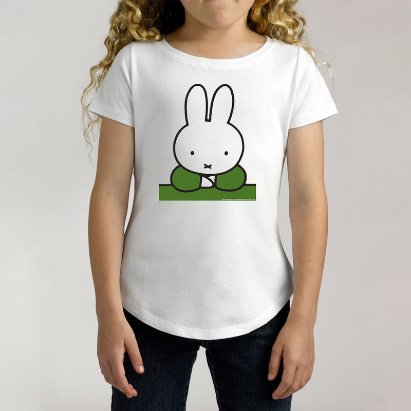 Twidla Girl's Miffy Green Cotton Tee