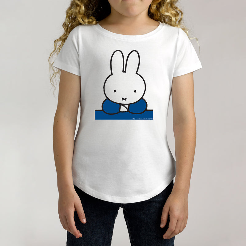Twidla Girl's Miffy Blue Cotton Tee