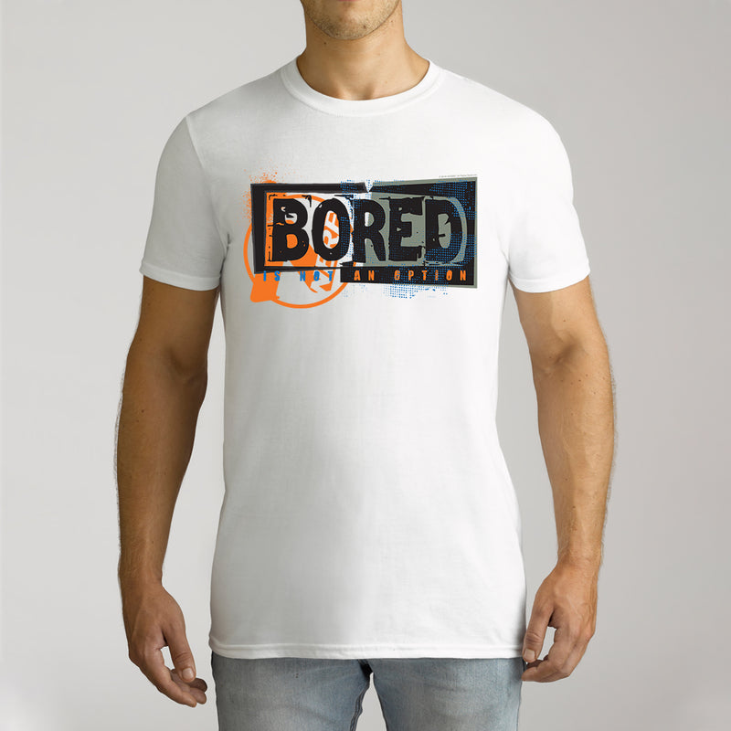 Twidla Men's Nerf Bored Is Not An Option Cotton Tee
