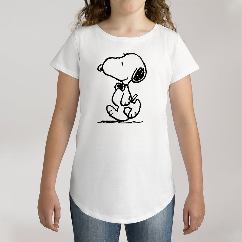 Twidla Girl's Peanuts Snoopy Cotton T-Shirt