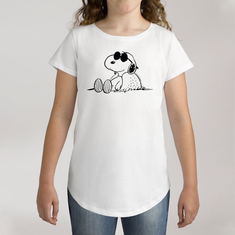 Twidla Girl's Peanuts Sunglasses Snoopy Cotton T-Shirt