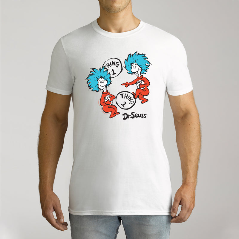 Twidla Men's Dr.Seuss 2 Things Cotton T-Shirt