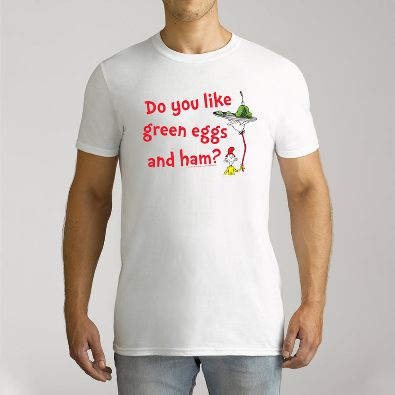 Twidla Men's Dr.Seuss Green Eggs & Ham Cotton T-Shirt