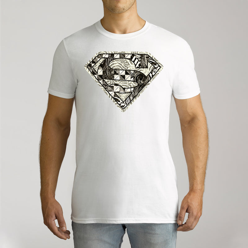 Twidla Men's DC Superman Monochrome Logo Cotton Tee