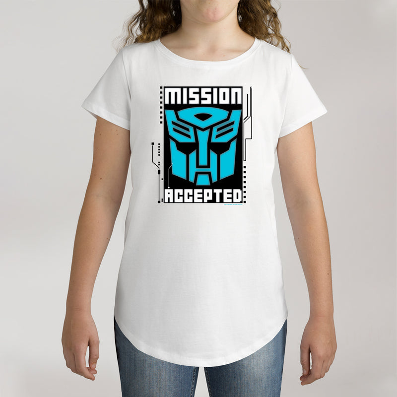 Twidla Girl's Transformers Mission Accepted Cotton Tee