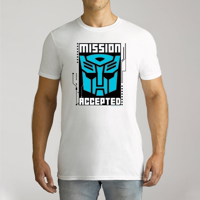 Twidla Men's Transformers Mission Accepted Cotton Tee