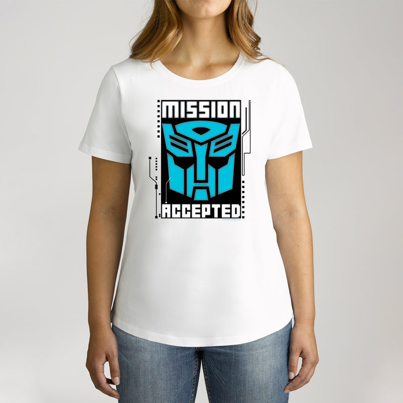 Twidla Women's Transformers Mission Accepted Cotton Tee