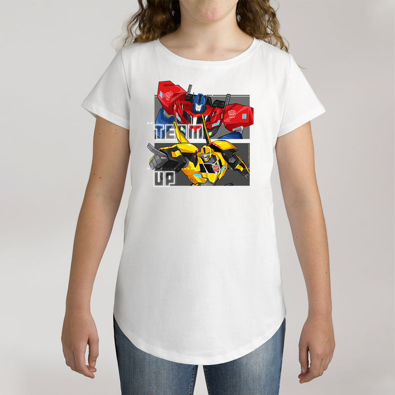 Twidla Girl's Transformers Team Up Cotton Tee