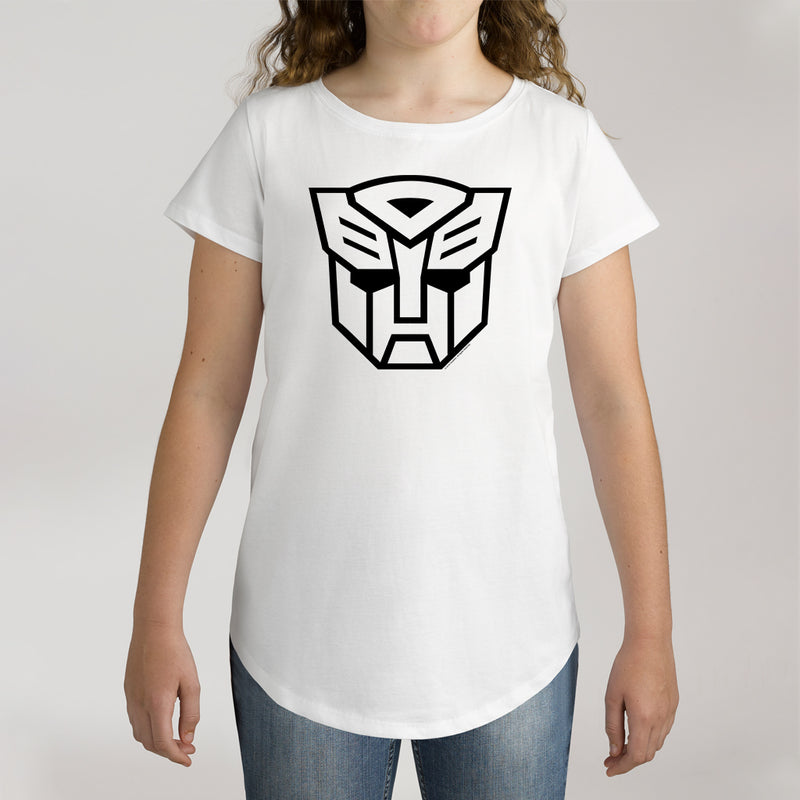 Twidla Girl's Transformers Face Cotton Tee