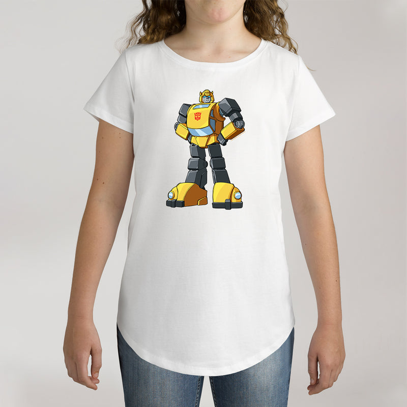 Twidla Girl's Transformers Bumblebee Standing Strong Cotton Tee