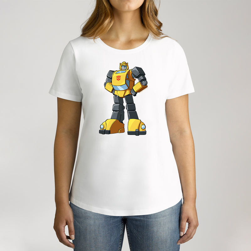 Twidla Women's Transformers Bumblebee Standing Strong Cotton Tee