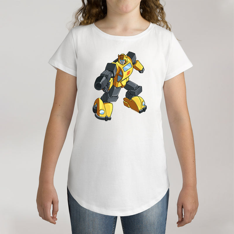 Twidla Girl's Transformers Bumblebee On The Move Cotton Tee